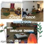 April 13th, Deep Peace Immersion