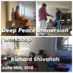 June 16th, Deep Peace Immersion Workshop.