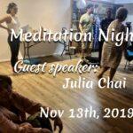 Nov 13th, 2019. Meditation Night